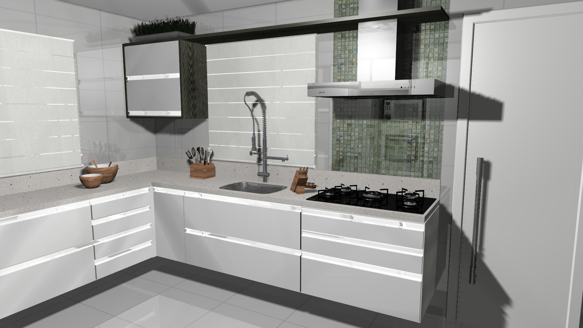 Projeto de cozinha moderna e prática #674C38 1920 1080